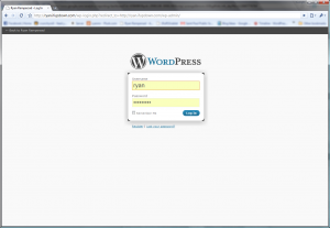 Wordpress Login on Chrome