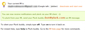 Plurk Via Google Talk