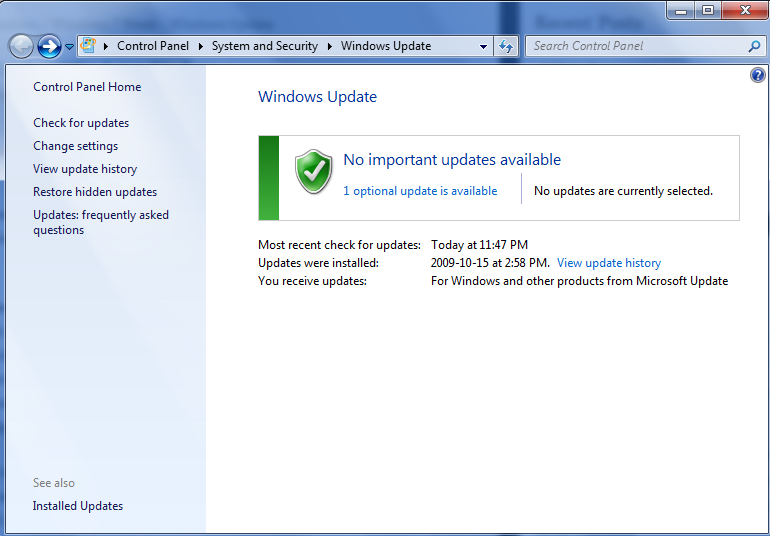Windows 7 Week – Windows Update  Ryan Rampersad39;s Chronicles
