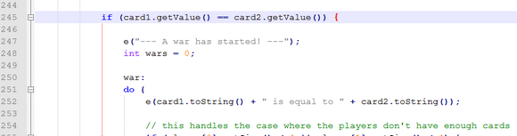 A tiny preview to what some code might look in a AP CS class