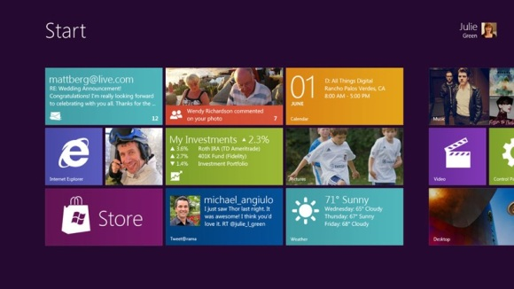 Windows 8 - Front Screen - Courtesy of Engadget