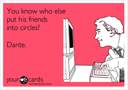 Dante - Put his friends into circles like you on Google+