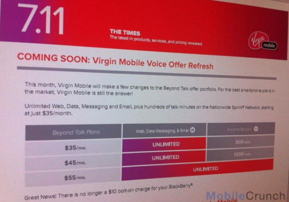 New Pricing on Virgin Mobile - Poster