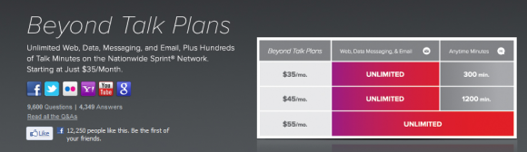 New Virgin Mobile Beyond Talk Pricing