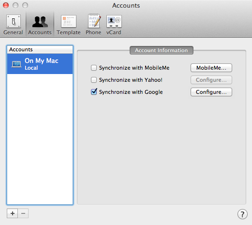 Address Book Sync