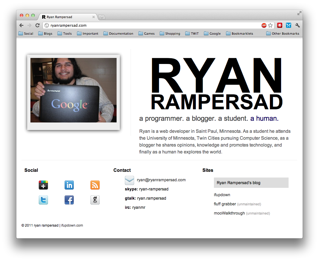 New Design - Ryan Rampersad