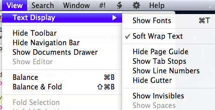 Menubar Access - Per-document wrapping