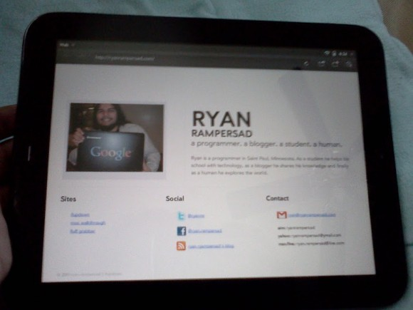 Ryan on the TouchPad