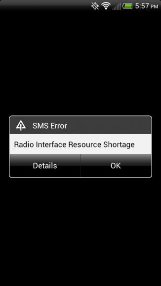 Radio Interface Resource Shortage